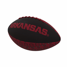 Arkansas Repeating Mini-Size Rubber Football