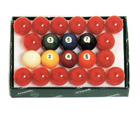 Aramith 2 1/4-In. Snooker Ball Set