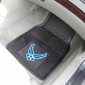 Air Force Heavy Duty 2-Piece Vinyl Car Mats 17x27