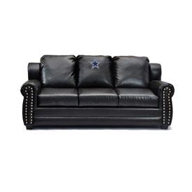 Dallas Cowboys Coach Leather Sofa