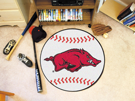 Arkansas Baseball Mat 27 diameter