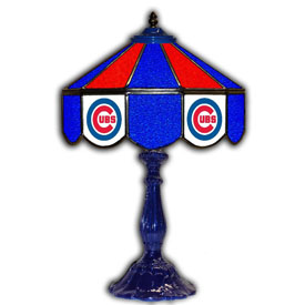 Chicago Cubs 21 inch Glass Table Lamp