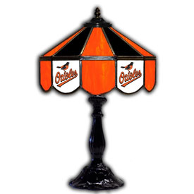"Baltimore Orioles 21"" Glass Table Lamp"