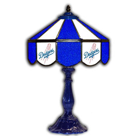 Los Angeles Dodgers 21 inch Glass Table Lamp