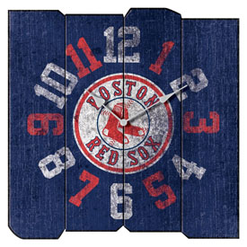 Boston Red Sox Square Vintage Wall Clock