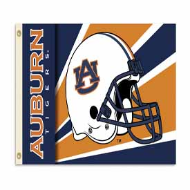Auburn Tigers 3 Ft. X 5 Ft. Flag W/Grommets - Helmet Design