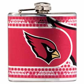 Arizona Cardinals Stainless Steel 6 oz. Flask with Metallic Graphics