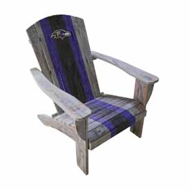 Baltimore Ravens Wood Adirondack Chair