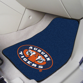 Auburn Tigers 2-piece Carpeted Car Mats 17x27