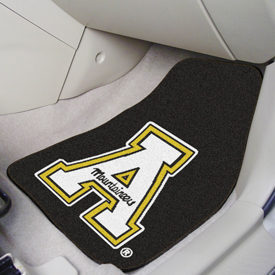 Appalachian State 2-piece Carpeted Car Mats 17x27