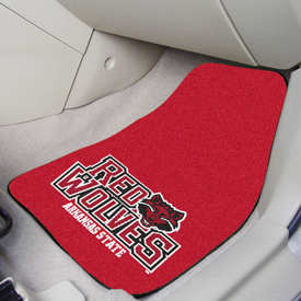 Arkansas State 2-piece Carpeted Car Mats 17x27