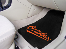 MLB - Baltimore Orioles 2-piece Carpeted Car Mats 17x27