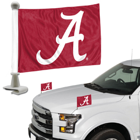 "Alabama Crimson Tide Ambassador 4"" x 6"" Car Flag Set of 2"