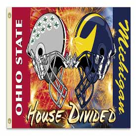 Michigan Ohio St 3 Ft X 5 Ft Flag W Grommets Helmet House Divided