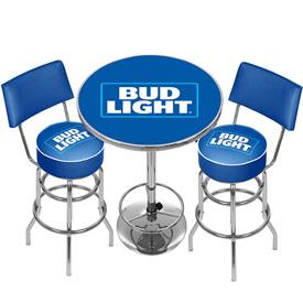 Ultimate Bud Light Room Combo 2 Bar Stools And Table