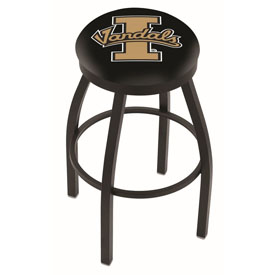 L8B2B - Black Wrinkle Idaho Swivel Bar Stool with Accent Ring by Holland Bar Stool Company