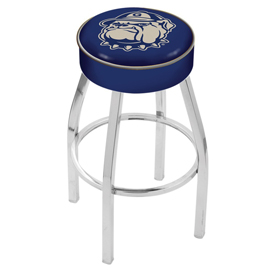 L8C1 - 4 Georgetown Cushion Seat with Chrome Base Swivel Bar Stool by Holland Bar Stool Company