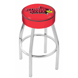 L8C1 - 4 Illinois State Cushion Seat with Chrome Base Swivel Bar Stool by Holland Bar Stool Company