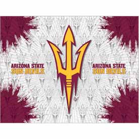 Arizona State Logo Canvas with Pitchfork logo by Holland Bar Stool Company