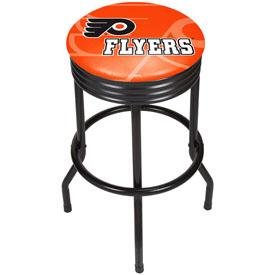 Super Nhl Black Ribbed Bar Stool Philadelphia Flyers Inzonedesignstudio Interior Chair Design Inzonedesignstudiocom