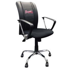 Atlanta Braves MLB Curve Task Chair