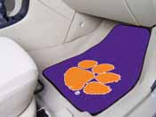 Clemson 2-piece Purple Carpeted Car Mats 17x27