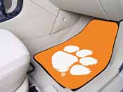 Clemson 2-piece Orange Carpeted Car Mats 17x27