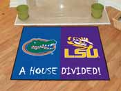 Florida - LSU House Divided Rugs 33.75x42.5