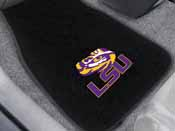 Louisiana State 2-piece Embroidered Car Mats 18x27