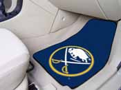 NHL - Buffalo Sabres 2-pc Printed Carpet Car Mats 17x27