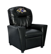 Baltimore Ravens Faux Leather Kids Recliner
