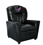 Houston Texans Faux Leather Kids Recliner