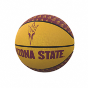 AZ State Repeating Logo Mini-Size Rubber Basketball