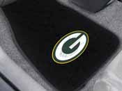 NFL - Green Bay Packers 2-piece Embroidered Car Mats 18x27