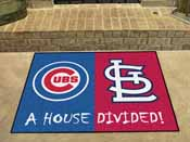 MLB - Chicago Cubs - St. Louis Cardinals House Divided Rugs 33.75x42.5