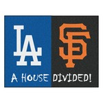 MLB - Los Angeles Dodgers - MLB - San Francisco Giants House Divided Rugs 33.75x42.5