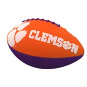 Clemson Combo Logo Junior-Size Rubber Football