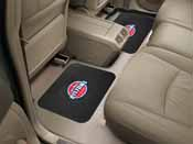 NBA - Detroit Pistons Backseat Utility Mats 2 Pack 14x17