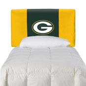 Green Bay Packers Fan Favorite Twin Headboard Microfiber