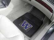 Washington 2-pc Vinyl Car Mat Set