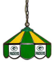 Green Bay Packers 14 inch Glass Pub Lamp