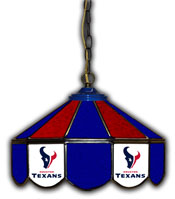 Houston Texans 14 inch Glass Pub Lamp