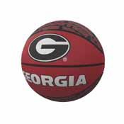 Georgia Repeating Logo Mini-Size Rubber Basketball