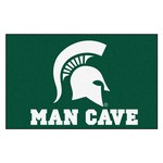 Michigan State Man Cave UltiMat Rug 5'x8'