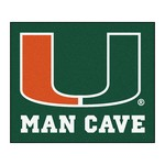 Miami Man Cave Tailgater Rug 5'x6'