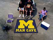 Michigan Man Cave Tailgater Rug 5'x6'