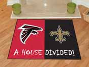 NFL - Atlanta Falcons - New Orleans Saints House Divided Rugs 33.75x42.5