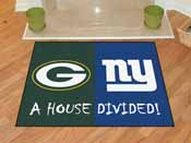 NFL - Green Bay Packers - New York Giants House Divided Rugs 33.75x42.5