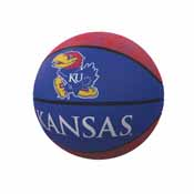Kansas Repeating Logo Mini-Size Rubber Basketball