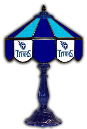 Tennessee Titans 21 inch Glass Table Lamp